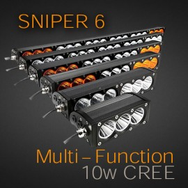 Led light bar snipe6 6 series 10w cree xml 2 with multi colour sniper multi function with colour lens options usa made cree 10w mozeypictures Images