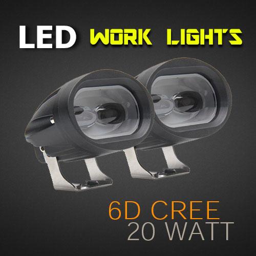 led work light 3 8 inch 20 watt cree heavy duty pro. Black Bedroom Furniture Sets. Home Design Ideas