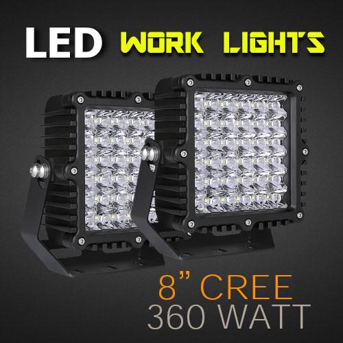 8 Inch 360 Watt, Heavy Duty And IP68